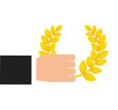 Wianek korony nagrody ikona Obrazy Stock