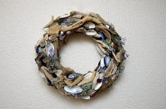 Wianek od driftwood i seashells Zdjęcie Royalty Free