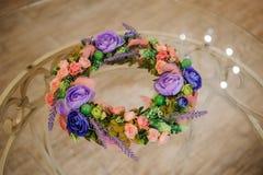 Wianek piękni lato kwiaty Obraz Royalty Free