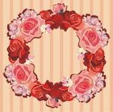 Wianek róże ilustracja wektor
