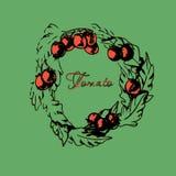 Wianek z pomidorami Obraz Royalty Free