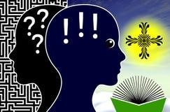 Wiar pomoce odpowiadać pytania royalty ilustracja
