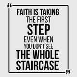 Wiara bierze pierwszego kroka Wektorowe motywacyjne wyceny ilustracji
