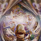 Wiara i nauka ilustracja wektor