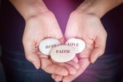 Wiara, nadzieja i miłość, Obrazy Stock