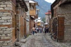 Ćwiartka w antycznej wiosce Lakhydzh zdjęcia stock
