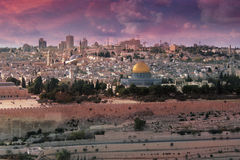 wiary Jerusalem światło Zdjęcie Stock