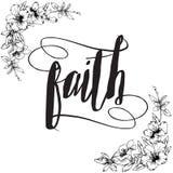 Wiary kaligrafii typografia Zdjęcie Royalty Free