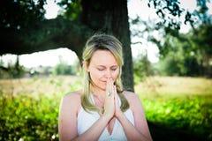 wiary modlitwa Obrazy Stock