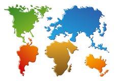Świat abstrakcjonistyczna mapa Obrazy Royalty Free