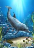 Świat delfin ilustracja wektor