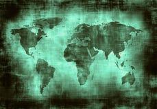Świat Grunge mapa Obraz Royalty Free