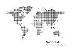 Świat karta Obrazy Royalty Free