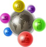 świat komunikacji Zdjęcie Stock