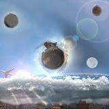 Świat od wyobraźni poza Fotografia Royalty Free