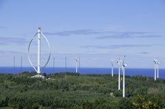 Świat osi wielki pionowo silnik wiatrowy Zdjęcie Stock