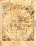 Świat rocznik mapa Fotografia Stock