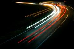 ?wiat?a samochody z noc? zdjęcie royalty free