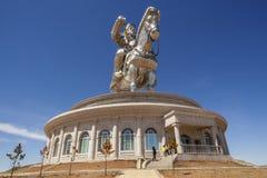 Świat wielka statua Chinghis Khan Zdjęcie Royalty Free