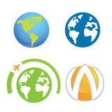Świat ziemi planety loga element Obrazy Stock
