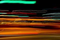 światła abstrakcjonistyczny ruch drogowy Obrazy Stock