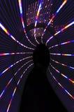 światło abstrakcjonistyczny tunel Obrazy Royalty Free