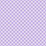 Światło - purpurowy Gingham Tkaniny Tło Fotografia Stock
