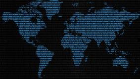 Światowa dane mapa obraz stock