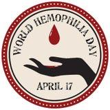 Światowa hemofilia dnia etykietka Fotografia Royalty Free