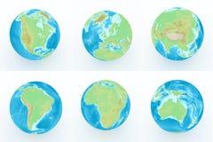 Światowa kula ziemska z geographical cechami ilustracja wektor