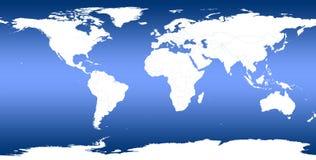 Światowa mapa Zdjęcie Stock