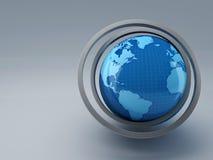 Światowa mapa 3D ilustracji