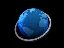Światowa mapa 3D ilustracja wektor