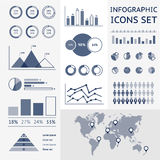 Światowa mapa infographic Zdjęcie Royalty Free
