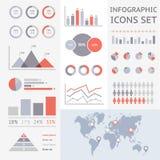 Światowa mapa infographic Obrazy Stock