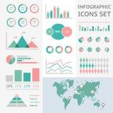 Światowa mapa infographic Zdjęcie Stock