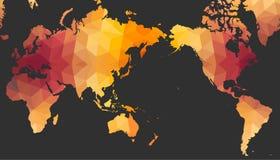 Światowa mapa Poligonalny styl Zdjęcia Stock