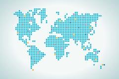 Światowa mapa w kwadrat kropce Zdjęcie Royalty Free