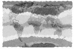 Światowa mapa w trójbokach w popielatym Zdjęcie Royalty Free