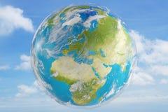 Światowa planety ziemia 3d-illustration Elementy ten wizerunku furni Ilustracji
