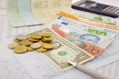 Światowa waluta Fotografia Stock