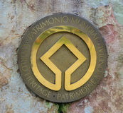 Światowe dziedzictwo logo Fotografia Royalty Free