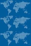 światowe kropkowane mapy Zdjęcia Royalty Free