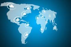 światowe map sieci Obrazy Royalty Free