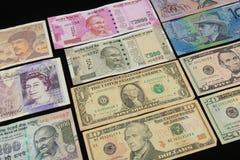Światowe walut notatki Obraz Royalty Free