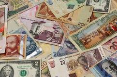 Światowe waluty Fotografia Royalty Free