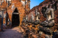 Światowego dziedzictwa miejsce w Ayutthaya, Tajlandia Fotografia Royalty Free