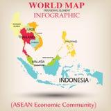 Światowej mapy Ewidencyjny graficzny wektor Fotografia Royalty Free