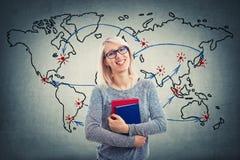 Światowej mapy nauczyciel zdjęcie royalty free