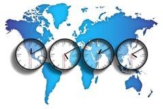 Światowej mapy strefy czasowe Zdjęcia Royalty Free